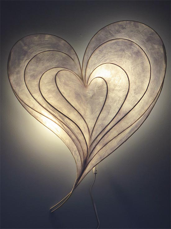 Matters of the Heart Light Sculpture