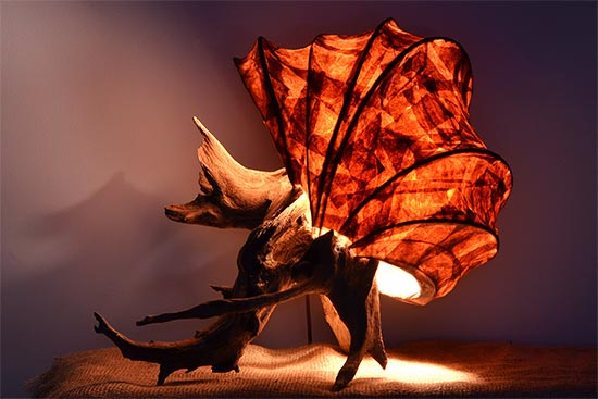 Rustic Light Sculpture