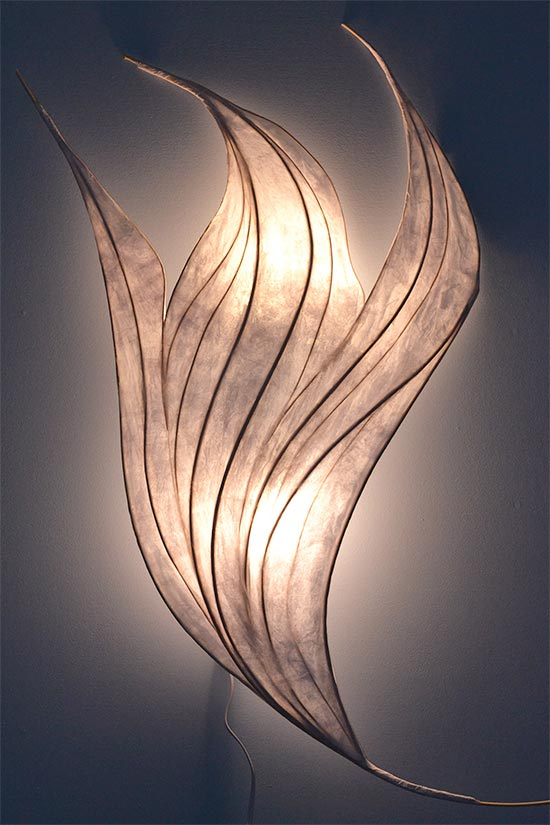 White Flame Light Sculpture