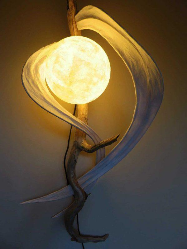 Satin Swirls | LED Nature Light Fixture 08