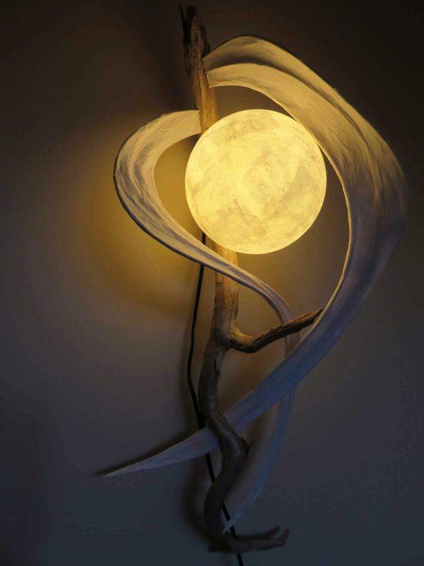 Satin Swirls | LED Nature Light Fixture 07