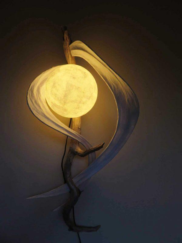 Satin Swirls | LED Nature Light Fixture 01